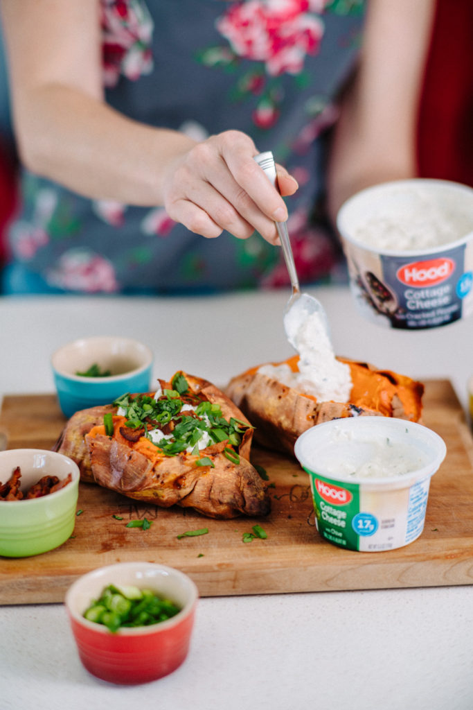 H is for: Hood Cottage Cheese Loaded Baked Sweet Potatoes ...